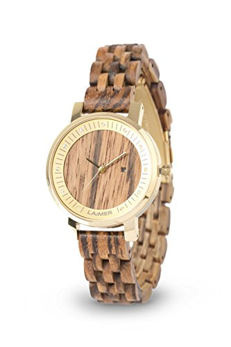 LAiMER Women's Wooden Watch Jenni - Wrist Watch Made for sale  Delivered anywhere in USA