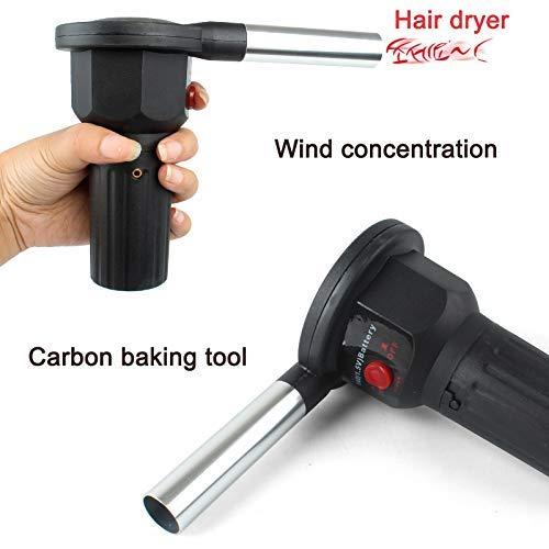 wqeew ventilador de barbacoa el/éctrico soplador de aire ayuda a quemar encendedores de picnic herramientas de barbacoa