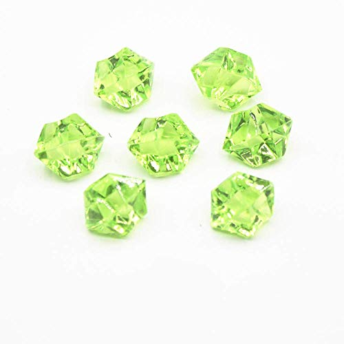 Jane Shop Acrylic Ice Rock, 0.5 inch Acrylic Faux Ice Rock Crystals Treasure Gems for Table Scatters, Table Confetti, Vase Fillers, Fish Tank, Party Decoration (900pcs Green)
