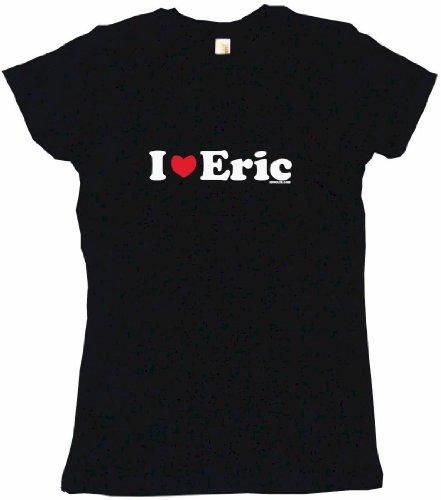 I Heart Love Eric Women's Babydoll Tee Shirt XL-Black