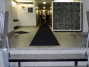 Heavy Duty Entry Door Mat - ''FloorGuard'' - 3' x 8' - Charcoal - Commercial/Industrial Highly Absorbent Entrance Doormat by FloorGuard (Image #3)