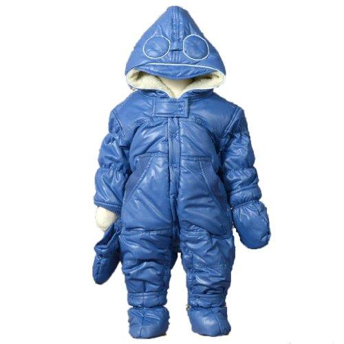 Eliane et Lena Shrek Baby Boy Snowsuit. Blue. Size 3m.