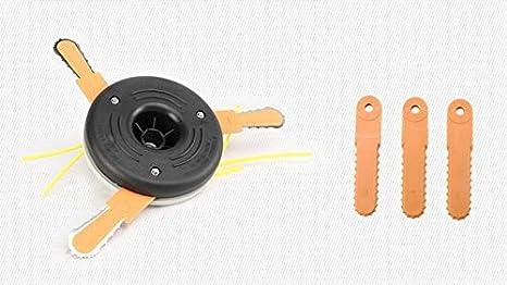 AiCheaX - Sierra de cadena de acero con cabeza de cortador de ...