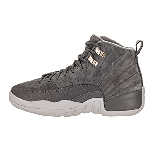 9c148cbc37b0 Nike Air Jordan 12 Retro BG Big Kids Basketball shoes Dark Grey