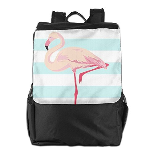 Shoulder Dayback Women Backpack HSVCUY Personalized Men Adjustable Storage Flamingo Outdoors School Strap Pink Travel And Camping For w7Sw6xqz