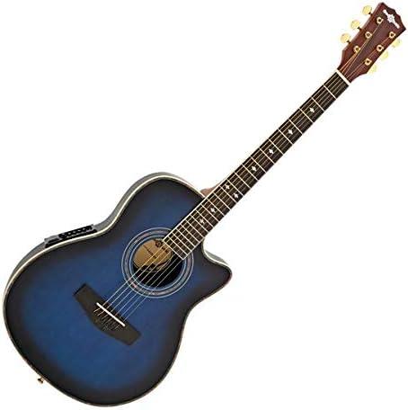 Guitarra Electroacustica Roundback de Gear4music Blue Burst ...