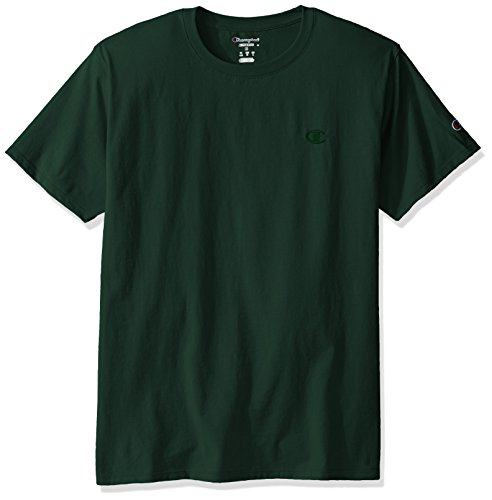 Champion Men's Classic Jersey T-Shirt, Dark Green, S
