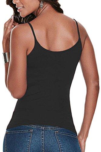 4698ecd51af34 La Vogue Débardeur Fine Bretelle Femme Top Uni Stretch Laçage: Amazon.fr:  Vêtements et accessoires
