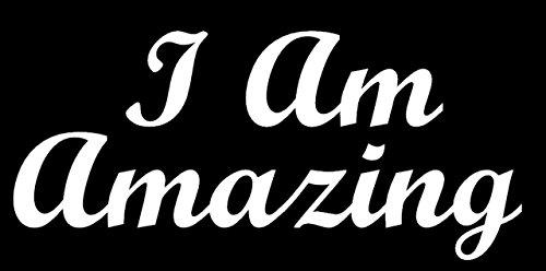 Joseph Amazing Technicolor Dreamcoat Costumes (I Am Amazing White Decal Vinyl Sticker|Cars Trucks Vans Walls Laptop| White |5.5 x 5 in3LLI451)