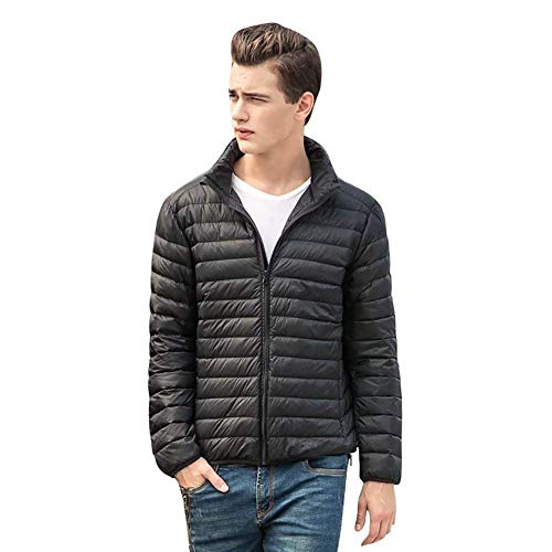 Down Quilted HX Sizes Outerwear Comfortable Men's Jacket Packable Clothing Jackets Down Sleeve Bomber Long fashion Black Lightweight Jacket xxUqI0fw