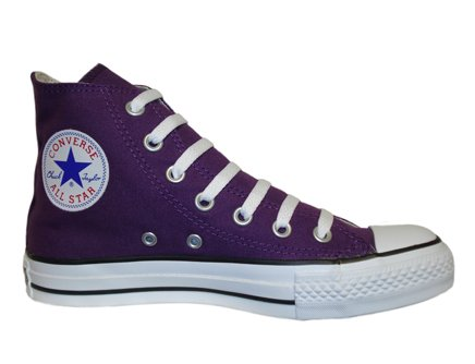 CONVERSE Chuck Taylor All Star Season Hi - Zapatillas de tela infantil Púrpura