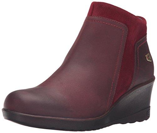 KEEN Women's Wedge Zip Shoe, Red Dahlia/Black, 9.5 M US by KEEN