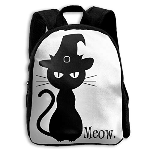 Create Magic Black Cat Halloween Kid's Backpack Shoulder Bags - 13.4 -