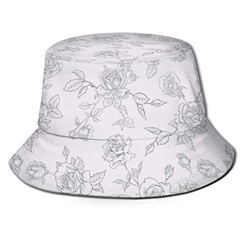 Flowers Pattern Surface Mens Trends Bucket Hat