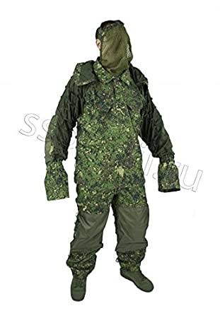 Amazon.com : Russian Military LESHIY Summer camo sniper Suit ...