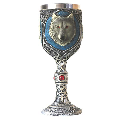 GOT Lone Wolf Wine Glass Stainless Steel Cup Wine Vessel Gothic Drinking Cup Beer Mug Supplies Collections (BB190324) (Best Chess Game Ever For Pc)
