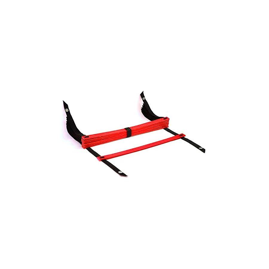 TOOGOO(R) 10 Feet Agility Speed ladder Soccer Training ladder Quick 7 Flat Rung Speed Ladder Red