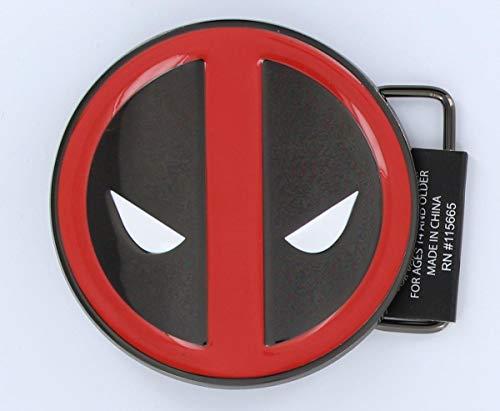 Deadpool Marvel's Enamel Gun Metal Belt Buckle Red