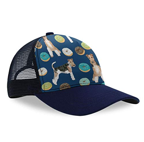 Summer Baseball Cap for Kids Children Toddlers - Moisture Wicking Breathable Team Armour Dad Cap Hip-Hop Golf Cap Relaxed Fit Fishing Cap, Wire Fox Terrier Hat