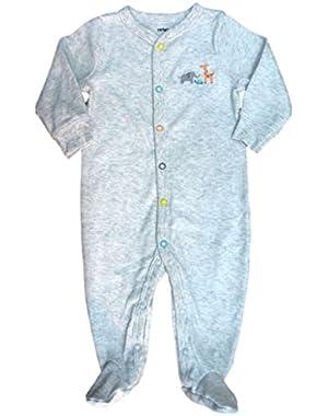 Carters Infant Boys Gray Footed Blanket Sleeper Sleep & Play Pajamas