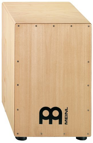 Meinl Cajon Box Drum with Internal Metal Strings for Adjustable Snare Effect - NOT MADE IN CHINA - Hardwood Full Size, 2-YEAR WARRANTY, HCAJ1NT) ()