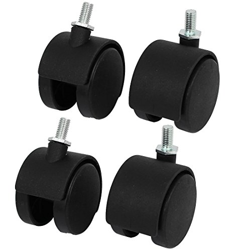 uxcell 2-inch Dia 2 Wheels M8 Threaded Stem Connector Rotatable Swivel Caster Pulleys 4pcs (Kitchen Chair Casters Swivel)