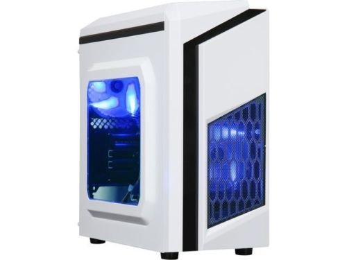 DIYPC DIY-F2-W White SPCC Steel MicroATX Mini Tower Computer Case