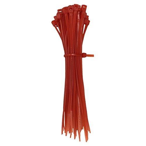MagiDeal 100Pcs Self-locking Plastic Nylon Cable Tie Wire Co