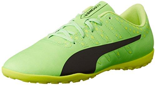 Puma Evopower Vigor 4 TT Jr, Botas de Fútbol Unisex Niños Verde (Green Gecko-puma Black-safety Yellow 01)