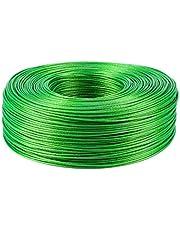 Staaldraad 100 meter Staaldraad Groen PVC gecoat Flexibele Draadkabel Roestvrij staal voor Waslijn Kas Druivenrek Shed 2mm