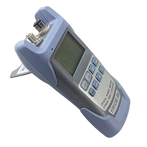Baosity 5MW Fiber Optic Cables Testers Visual Fault Locator Portable Optical Power Meter SC and FC Connector Gray