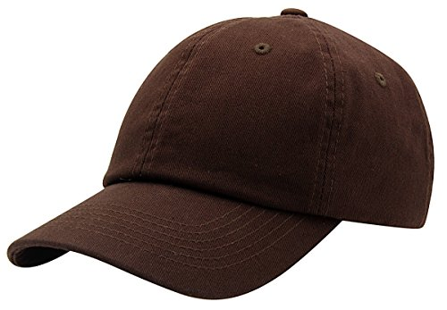 BRAND NEW 2016 Classic Plain Baseball Cap Unisex Cotton Hat For Men & Women Adjustable & Unstructured For Max Comfort Low Profile Polo Style  Unique & Timeless Clothing Accessories By Top Level, Dark Brown, One Size ()