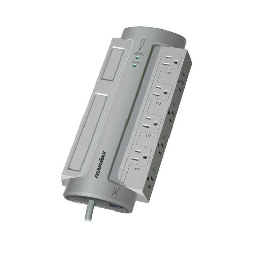 1 - 8-Outlet PowerMax(R) Surge Protector (Without Satellite & CATV Protection), 8 transformer-spaced outlets, 1,125 Joules, PM8-EX
