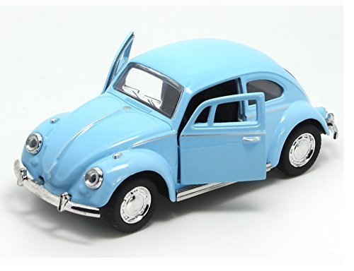 assic 1967 Volkswagen Vw Classic Beetle Bug Vintage 1/32 Scale Diecast Metal Pull Back Car Model Toy For Gift/Kids (Sky Blue) (Volkswagen Model)