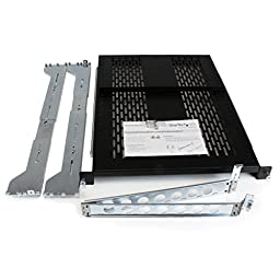 StarTech.com 2U Vented Sliding Rack Shelf with Cable Management Arm and Adjustable Mount UNISLDSHF19M