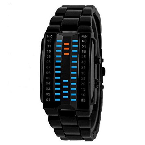 DSstyleファッションユニセックスLuxury Lovers '腕時計防水スポーツウォッチ3dミラー光LED電子時計 Black small LQQ-sel0206-jinqq18012 B079MF6RLC   Black small