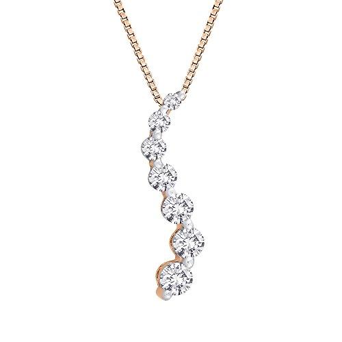 Diamond Journey Curve Necklace (Diamond