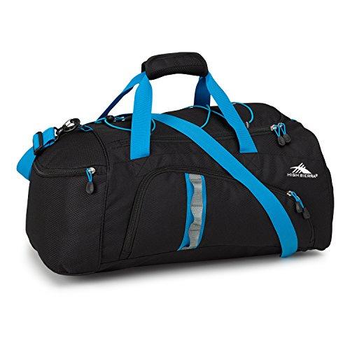 High Sierra Crossport 2 Jitter Duffel Bag, Black/Pool (Bag Sierra Shoulder Mini High)