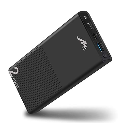 20000mah External Battery for Cell Phone, Portable Phone Charger Battery Pack Quick Charge QC3.0 PD USB C Compatible with iPhone, iPad, Samsung, Nintendo Switch and More, Black from miisso