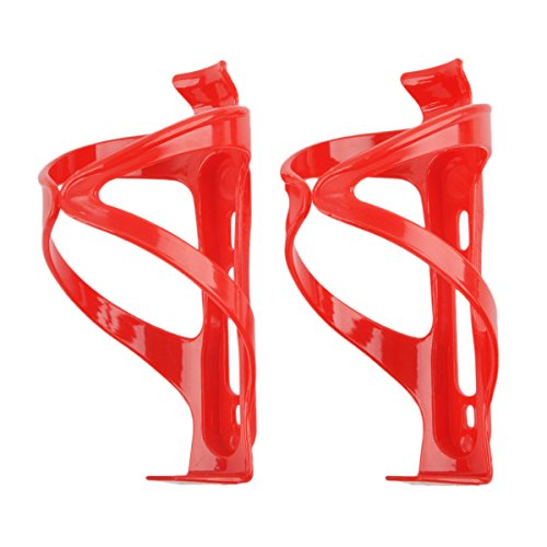 Neoto Bike Plastic Water Bottle Cages (Red 2 PCS)