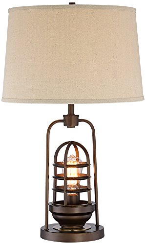 Hobie Bronze Nightlight Cage Table Lamp