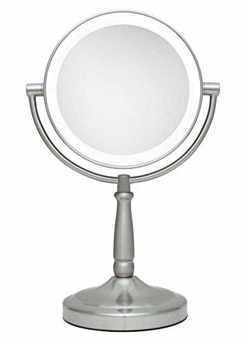 Zadro Cordless Dual Sided Led Lighted Vanity Mirror Satin