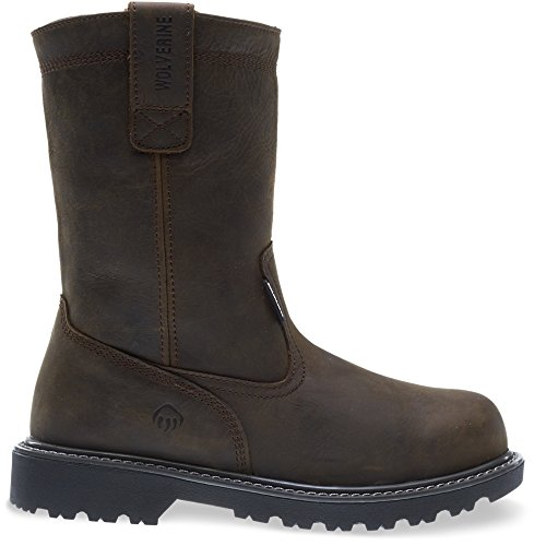 "Wolverine Men's Floorhand Waterproof 10"" Soft Toe Work Boot, Dark Brown, 11 M US"