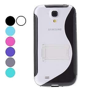 conseguir S-Forma TPU Funda con soporte para Samsung Galaxy S4 i9500 (colores surtidos) , Azul Claro