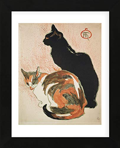 (McGaw Graphics Two Cats, 1894 by Theophile-Alexandre Steinlen Framed Print, Multicolor )