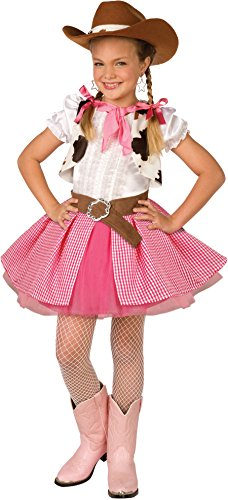 Girls Cowgirl Cutie Wild West Cowgirl Costume Small 4-6]()
