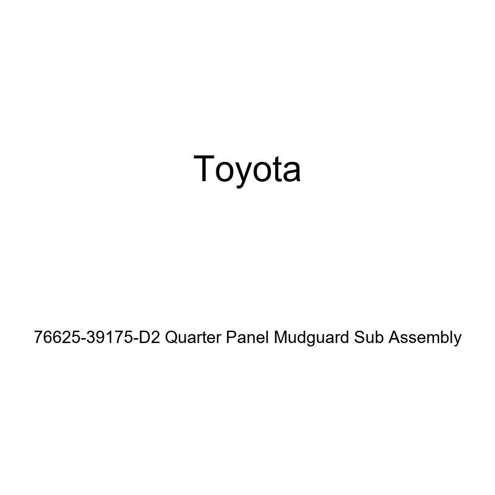 TOYOTA Genuine 76625-39175-D2 Quarter Panel Mudguard Sub Assembly