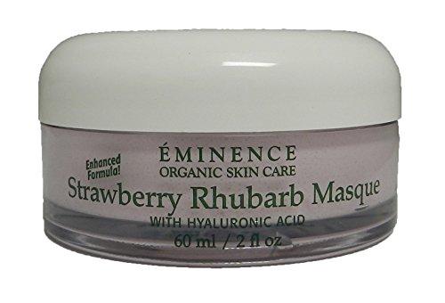 Eminence Organic Skincare Strawberry Rhubarb Masque with Vegan Friendly Hyaluronic Acid, 2 Fluid Ounce