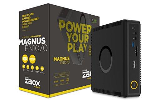 Zotac Magnus Intel Core i5-7500T 2.7GHz/2TB 5400RPM + 120GB M.2 Solid State Drive - 16GB DDR4 SDRAM - Nvidia GeForce GTX 1070 8GB GDDR5 Graphics - Windows 10 Mini Gaming Desktop -  MAGNUS-EN1070K