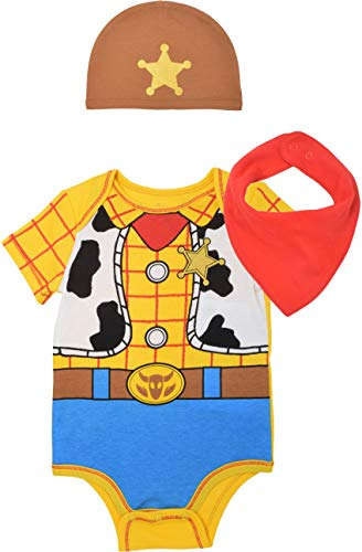 Disney Pixar Toy Story Baby Boys Woody Costume Bodysuit & Cap Set 0-3 Months (Big Baby Toy Story)